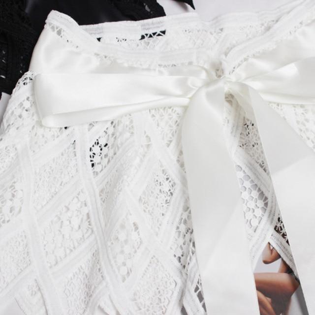 Hot Sale New Fashion Trendy Fashion Corset Belts For Women Solid Lace Panel Drawstring Wide Belt Sweat Mini Skirt Female ZK297 5