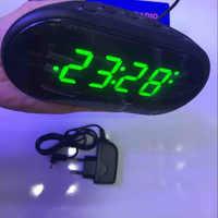 AM/FM LED Clock Electronic Desktop Alarm Clock Digital Table Radio Gift Home Office Supplies EU Plug