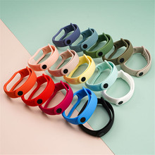 Watchband-Accessories Wrist Bracelet Mi-Band Xiaomi Colorful-Strap Smart-Watch Silicone