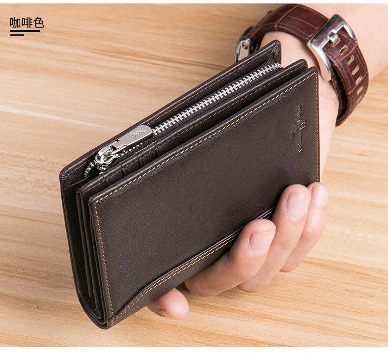 WilliamPolo Men Wallet mens slim Credit Card Holder Bifold Genuine Leather mini Multi Card Case Slots Vegetable tanned cowhide