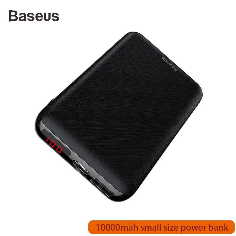 Baseus 10000mAh Power Bank For Xiaomi Samsung IPhone Huawei Powerbank Mini USB -C Portable Charger External Battery Pack Bank