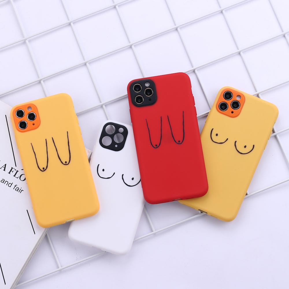 Sexy Boobs Breast Art Camera Protection Soft Silicone Phone Case Funda For iPhone 11 X XS XR Pro Max 6 7 7Plus 8 8Plus image