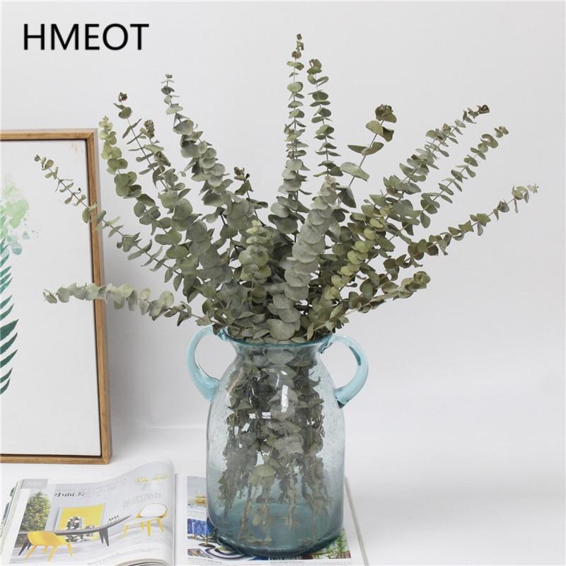 Natürliche Luft Getrocknete Eukalyptus Blatt Grün Pflanzen Getrocknete Blume Bouquet Künstliche Blumen Decor Home Schlafzimmer Hochzeit Materialien Geschenke