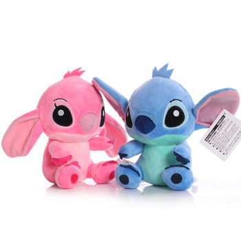 Disney Cartoon Blue Pink Stitch Plush Dolls Anime Toys Lilo and Stitch 20CM Stich Plush Stuffed Toys Christmas Gifts for Kids 2