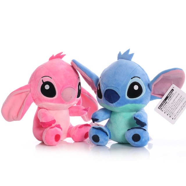 Disney Cartoon Blue Pink Stitch Plush Dolls Anime Toys Lilo and Stitch 20CM Stich Plush Stuffed Toys Christmas Gifts for Kids 2