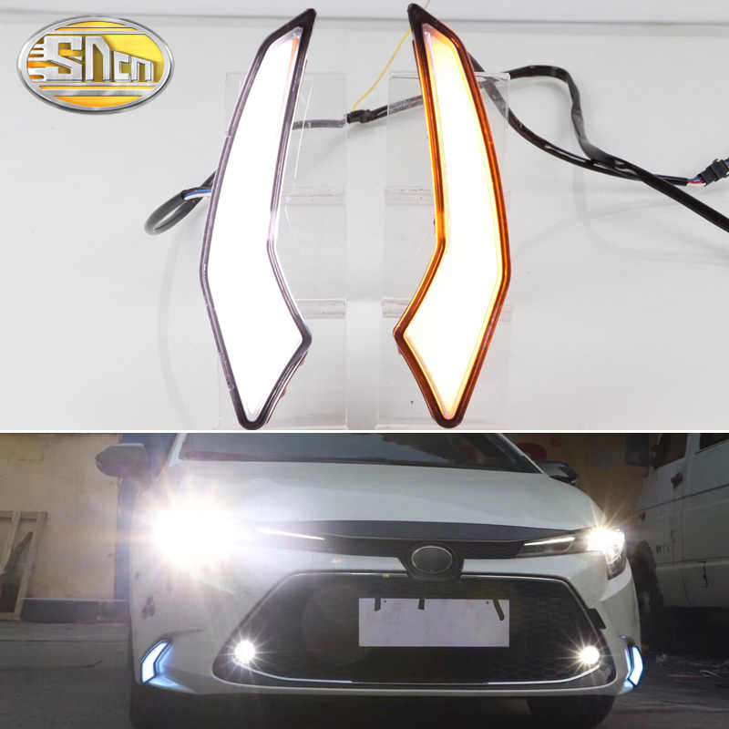 Voor Toyota Corolla L/Le/Xle Ons 2019 2020 Dynamische Geel Richtingaanwijzer Waterdichte Abs 12V Auto drl Lamp Led-dagrijverlichting
