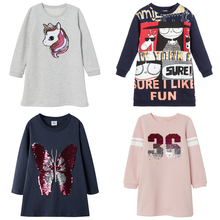 long sleeve girls winter dress unicorn kids dresses