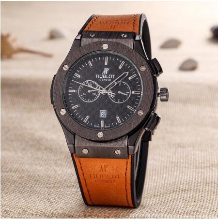 HUBLOT Luxury Brand quartz Mens Watches Quartz Watch Stainless Steel Strap  men