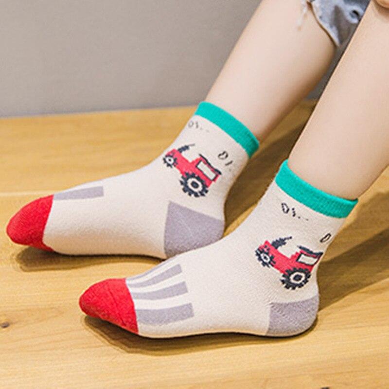 Autumn And Winter CHILDREN'S Socks Men And Women Baby Cute Car Tube Socks Kids Socks