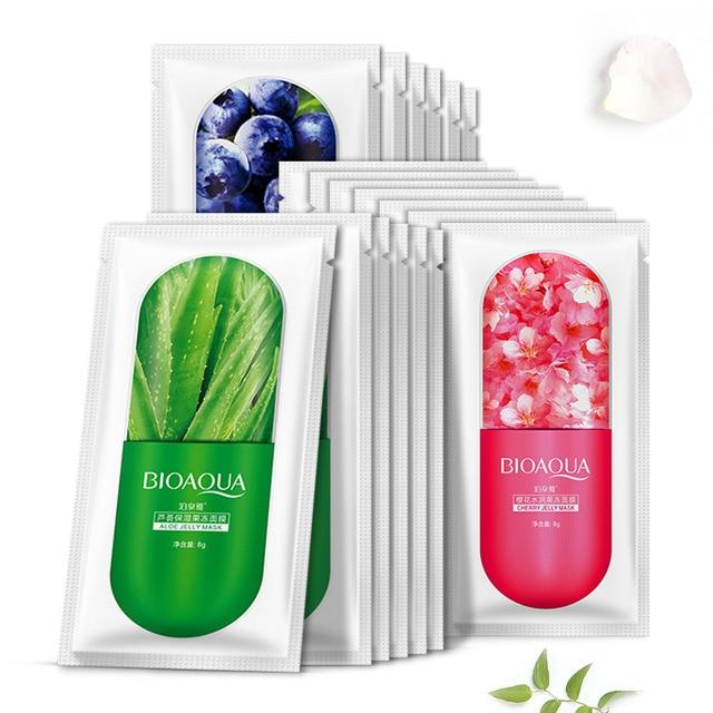 Fruits Hyaluronic Acid Moisturizing Sakura Face Mask Collagen Sheet Mask Acne Treatment Facial Mask Skin Care Korean Cosmetics 1