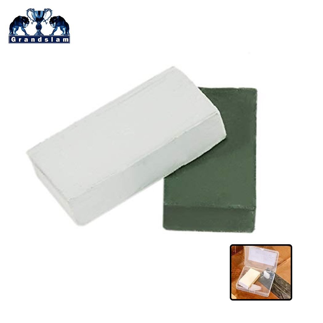 Grandslam Green White Alumina Abrasive Polishing Paste Wax ,Fit For Sharpening Shaving Razor Blade ,Buffing Compound Knife Grind