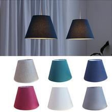 Odcień tkaniny nowoczesne oświetlenie cień do lampy ściennej lampa stołowa dekoracja wnętrz 6 kolory tkaniny abażury Art Deco stałe abażur cheap SerRickDon Solid 13cm 150g ECH86