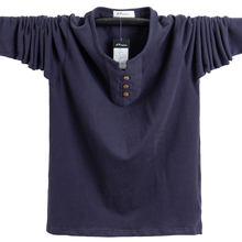 New Autumn Mens T Shirts Fashion 2020 Slim Fit Long Sleeve Cotton T Shirt Men Button Tops Casual Mens Clothing Plus Size 5XL