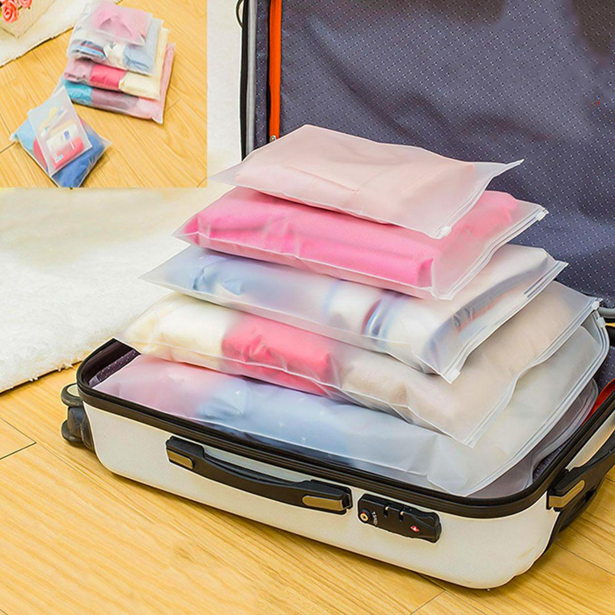 1/5 шт Водонепроницаемый багаж для путешествия Органайзер куб сумка для хранения одежды чемодан упаковочные пакеты