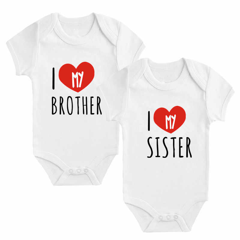 I Love My Big Sister NAME Baby Vest  Baby Grow  Baby Playsuit Glitter