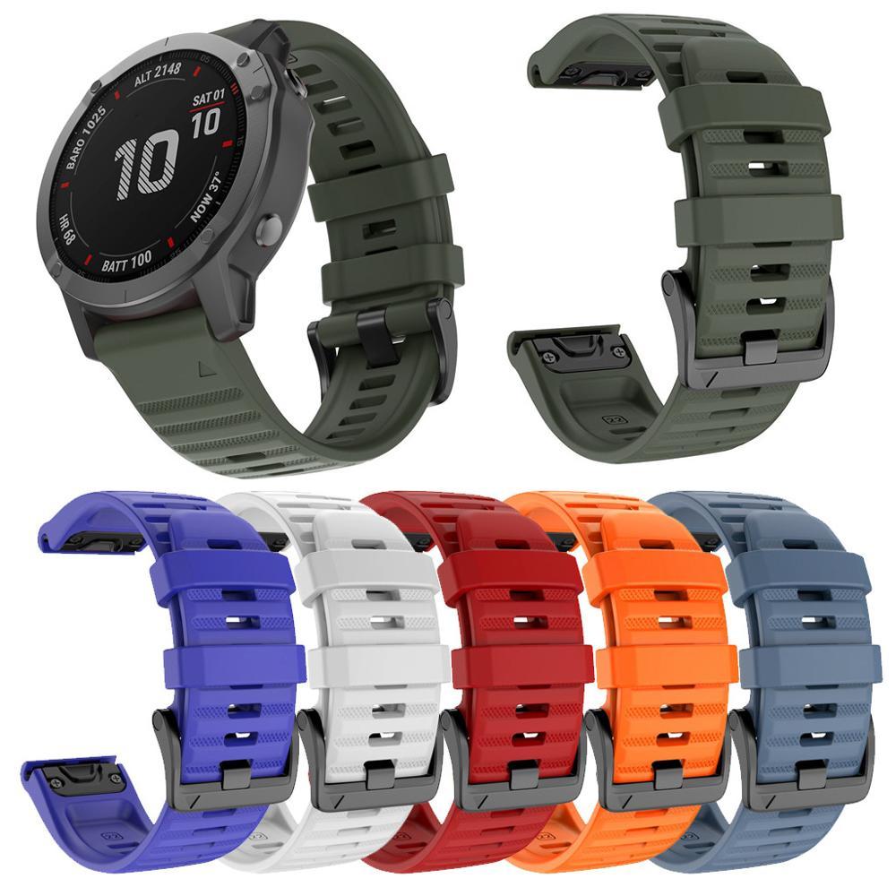 26 22 20MM Watchband Strap For Garmin Fenix 5X 6X 6 5 5S Plus 3 3HR Watch Quick Release Silicone Easyfit Wrist Band Strap