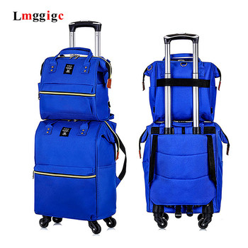 Two-Piece Suitcase set,Case with handbag,Premium Oxford cloth Luggage,Fashion Trip Bag,Universal wheel High Quality package bale