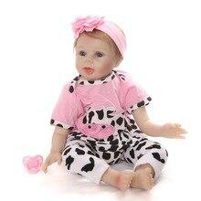 NPK 55CM Soft Silicone Newborn Baby Reborn Doll Babies Dolls