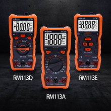 Richmeters 113d multímetro digital ncv automático variando ac/dc 6000 contagens medidor de tensão flash luz traseira true rms 113a