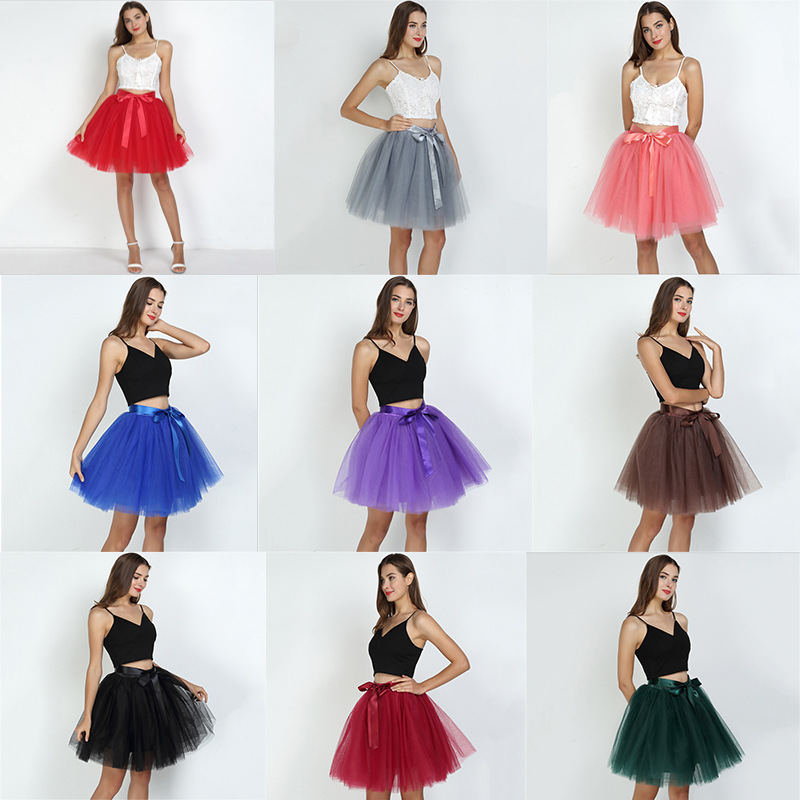 2020 New Arrival Women MIni Petticoat Tulle Puffy Short Vintage Wedding Bridal Petticoat Underskirt Rockabilly Tutu Plus Size