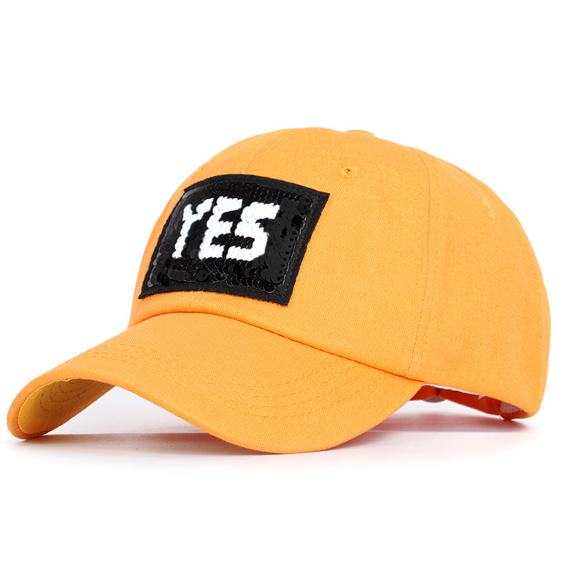 Sequined Yes Sequins For Men And Women, Duck Tongue Cap For Outdoor Sports, Sunscreen Hat And Lovely Sunshade Cap