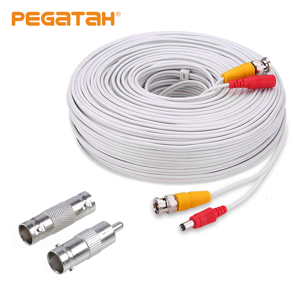 5M 10M 20M 30M 40M 50M CCTV Accessory BNC Video Power White Cable Analog AHD CCTV Surveillance Camera DVR Kit Surveillance