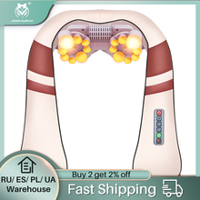 JinKaiRui U Form Elektrische Shiatsu Nacken Schulter Massager Körper Spa Infrarot 4D kneten Massager Auto/Heimgebrauch