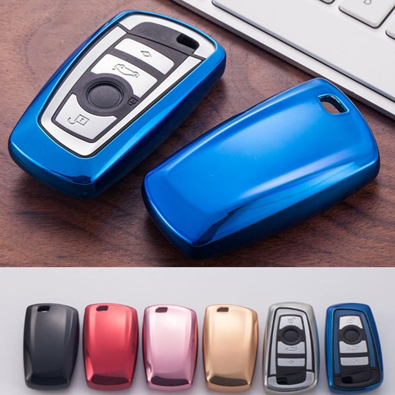Car Key Case Cover For BMW 520 525 F30 F10 F18 118i 320i 1 3 5 7 Series X3 X4 M3 M4 M5 Car Styling Soft TPU Protection Key Shell