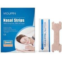 Mq 140 pçs/lote tiras nasais melhor respiração bom sono anti ronco nasal remendo parar ressonar tiras de cuidados de saúde produto