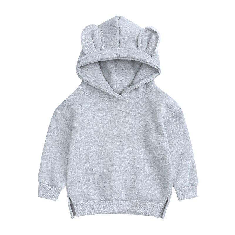 Baby Boys Girls Hoodies Cotton Hooded Sweatshirt Children Fashion Clothes Kids 2021 Infant Cartoon Clothing Pink Gray winter 4