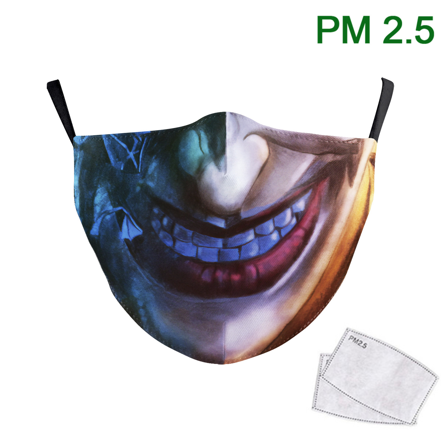 New Design Big Mouth Joker Print Face Masks For Adult Fashion Outdoor Mask Fabric Washable Reusable Mask PM2.5 Protective Dust
