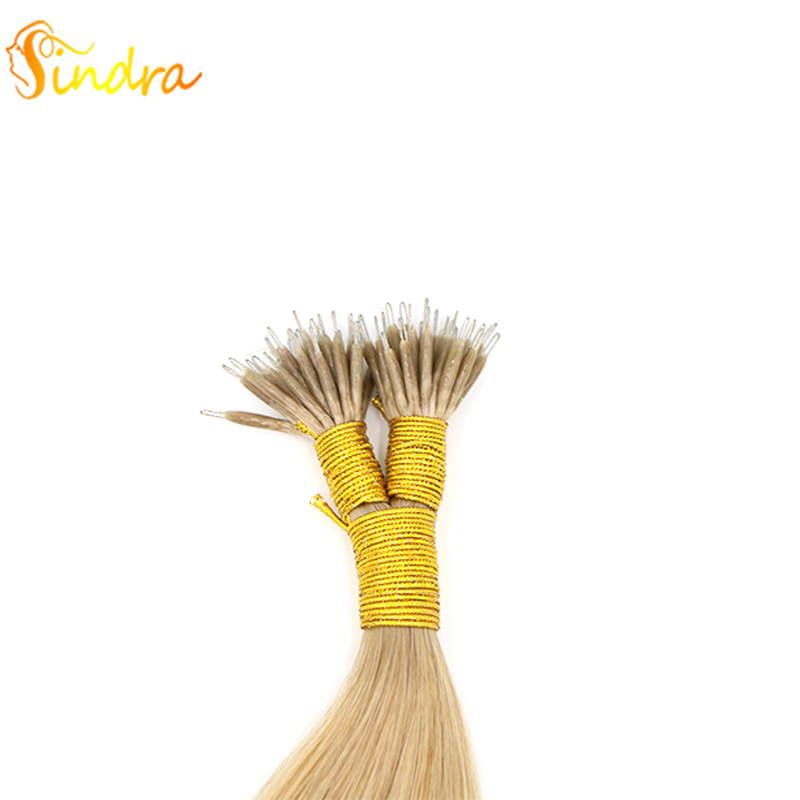 Sindra 1g/pc Nano Ring Hair Extension In Human Remy Hair Micro Bead Hair Extensions Hair Extension Double Drawn 14