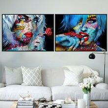 Мода для девочек; Сине белые волосы граффити искусства номер