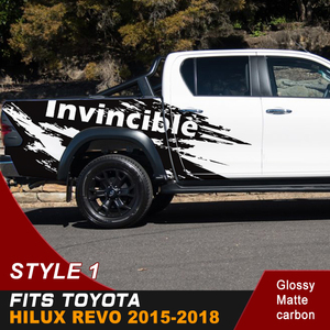 Image 5 - Car Decals Side Door Rear Trunk Mud Splash Graphic Vinyl Car Stickers Fit For TOYOTA HILUX Invincible 2015 2016 2017 2018 2019