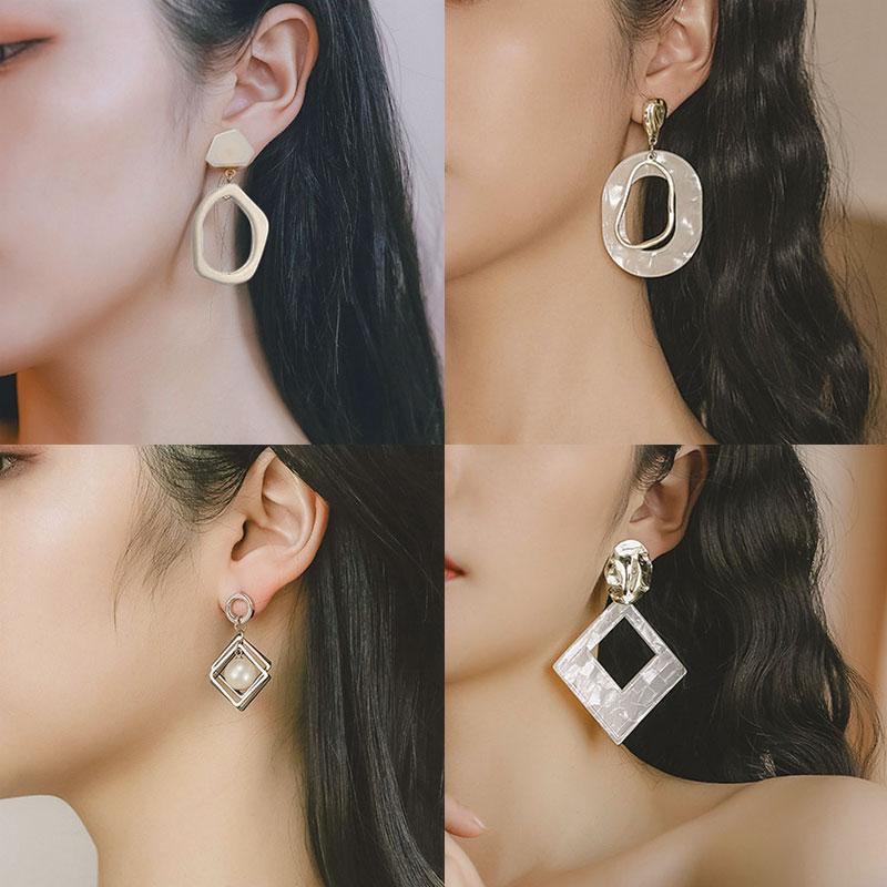 Pendientes llamativos coreanos aretes formas geométricas