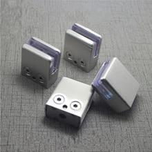 4PcsสแตนเลสสตีลClampยึดคลิปสำหรับชั้นวางแก้วHandrails Silver