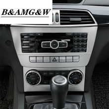 Car Styling Strip Air Conditioning CD Panel Decorative Cover Trim Auto Interior Accessories for Mercedes Benz C Class W204 11-14
