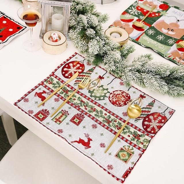 Фото трикотажная ткань столовых приборов для фестиваля рождественский цена