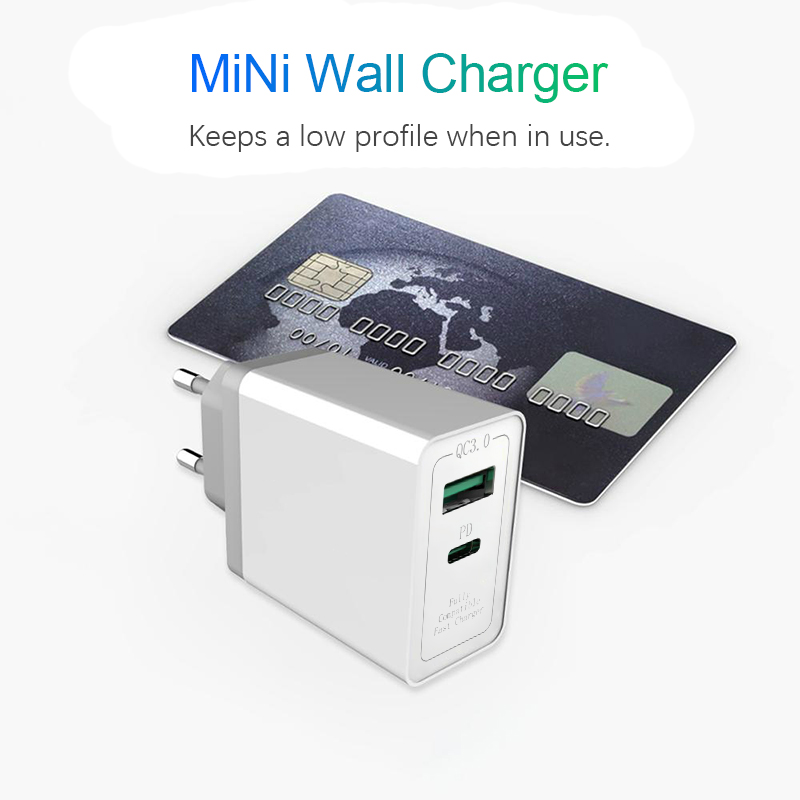 Quick Charge 3.0 18w USB Charger For EU US Android iPhone Adapter Phone Tablet with PD Fast Charger For Xiaomi Huawei Samsung