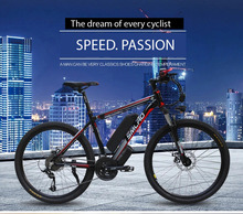 ELECTRIC POWER BICYCLE LITHIUM BATTERY 48V 26 350W MOUNTAIN BIKE 27 SPEED ELECTRIC BICYCLE