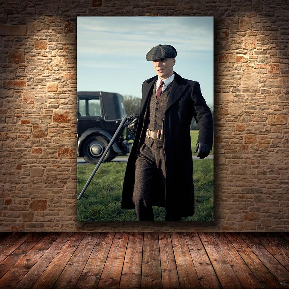12x18inch P/óster de Peaky Blinders Saison 6 en lienzo para decoraci/ón de habitaci/ón familiar Enmarcado
