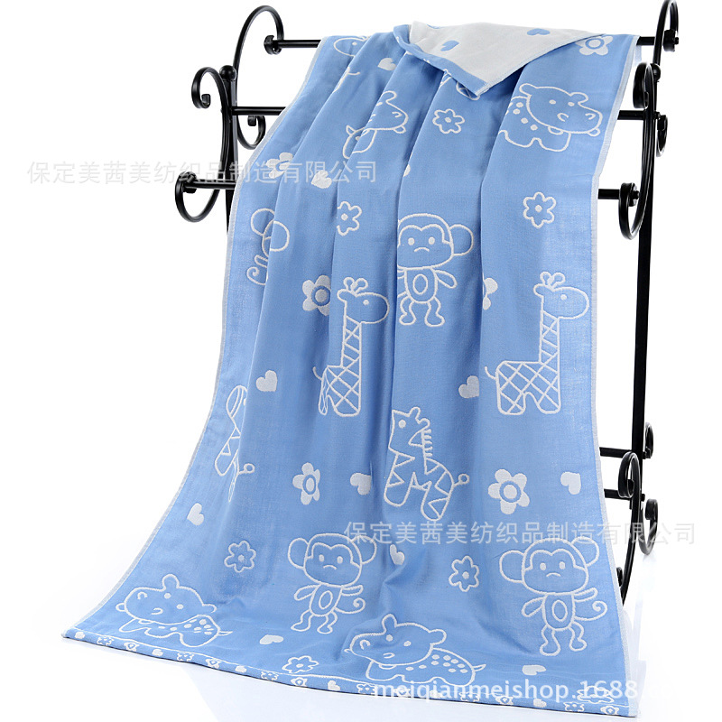 Pure Cotton Gauze Bath Towel Four Layer Six-layer Thick Extra-large Adult Newborn BABY'S Bath Towel Gaoyang