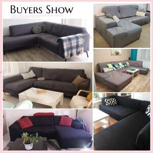 Image 5 - Эластичный стрейч диван Ipad Mini 1/2/3/4 местный Sof Чехол Диванные покрывала для универсального диваны для гостиной, вид в разрезе L фасонный чехол
