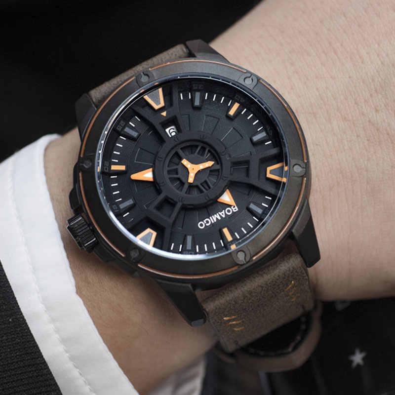 BOAMIGO الفاخرة العلامة التجارية الرجال الساعات الرياضية الإبداعية موضة عادية كوارتز جلدية ساعة معصم تاريخ السيارات ساعة relogio masculino