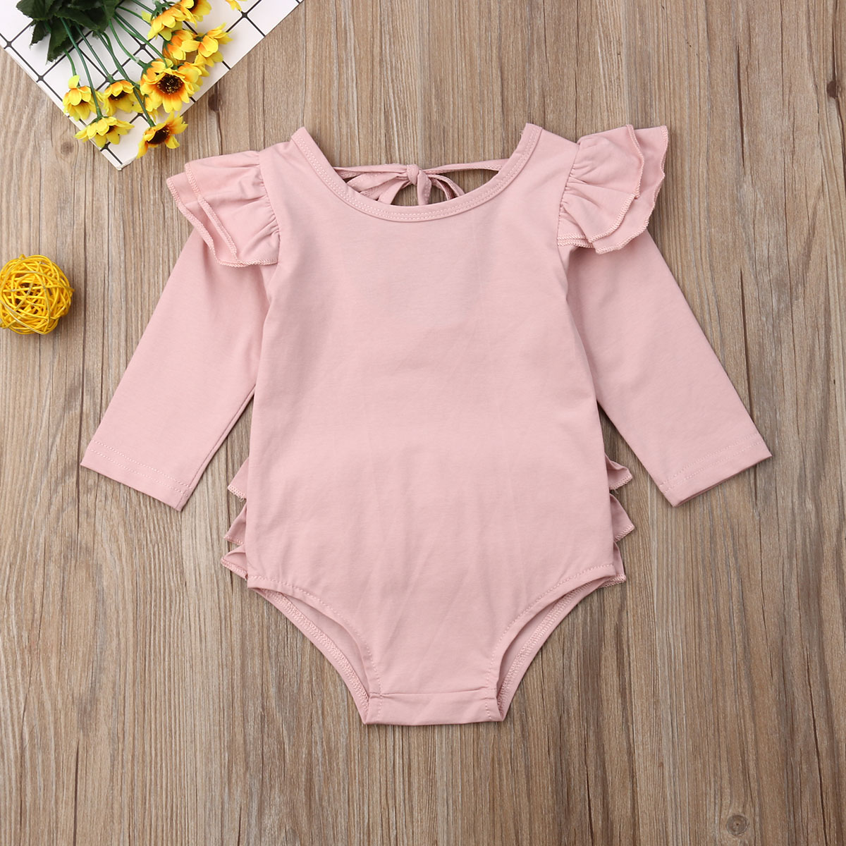 Headband Fall Clothes Sets 0-2T Halloween Outfits Toddler Baby Girl Romper Pumpkin Floral Ruffle Bowknot Bodysuit Jumpsuit