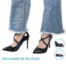 Soumit Fashion Shoelace damskie buty na wysokim obcasie sandały sznurowadło pasek na kostkę metalowe klamry akcesoria do butów tanie tanio Stałe Shoelace for Women High Heels Sznurowadła shoe lace Z tworzywa sztucznego shoes lace woman shoelace shoes belt