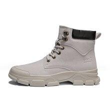 Buty skórzane buty zimowe buty zimowe plus Retro buty mętskie bezpieckie buty za kostkę botki męczyźni