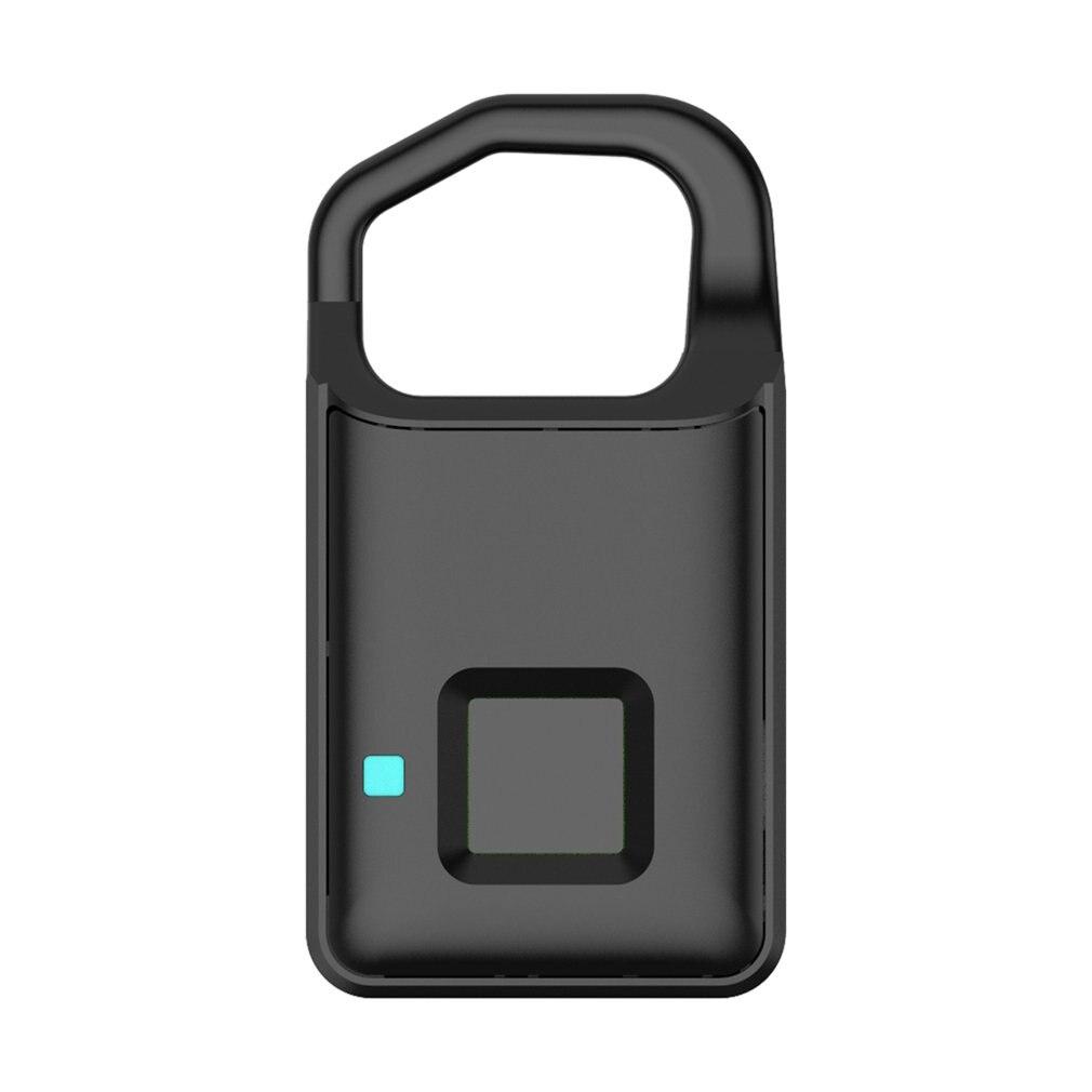 Fechamento Da Impressão Digital USB Recarregável P4 Keyless Inteligente Anti-Roubo Cadeado Mala Fechadura Da Porta de Segurança do Alarme de Assaltante