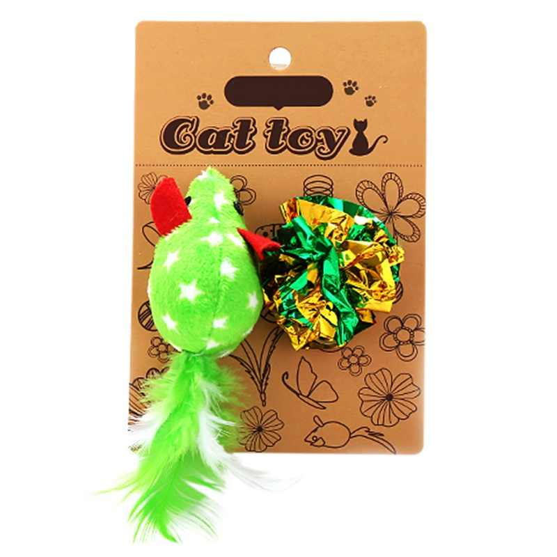 Et القطط ألعاب من القطيفة جميل محاكاة النمل شكل الأسماك لعبة مع العاب كروية مجموعة القطط الحيوانات الأليفة القط لعبة تفاعلية القط الصفر لوازم