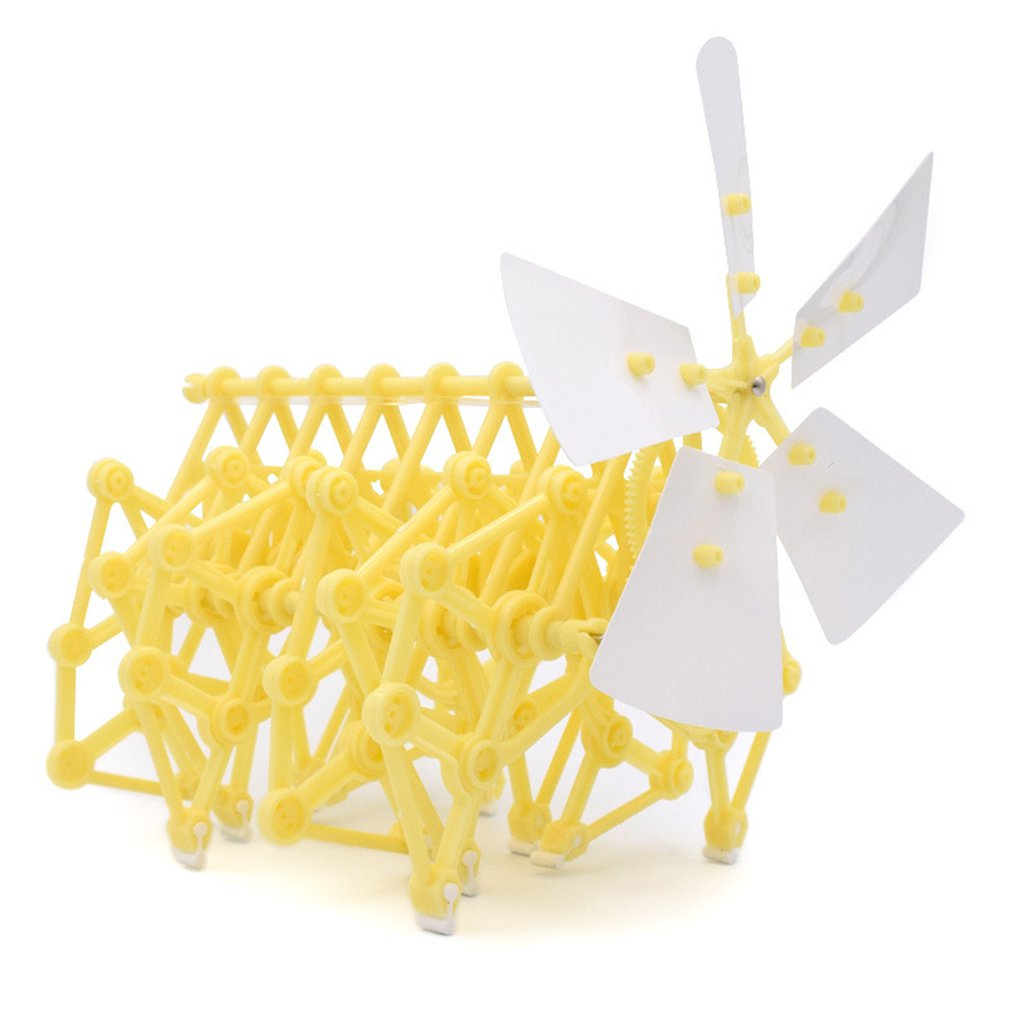 DIY Plastic Wind Power Bionic Beast Animal Technology DIY Children Toy Robot Wind Power Mechanical Beast Assembled Model